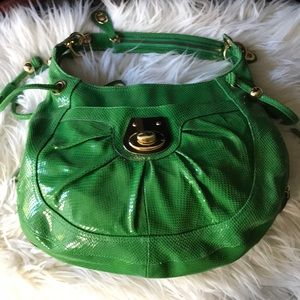 Vtg? EUC HYPE Green Purse/Lots of Compartment